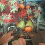とある店の秋のディスプレイ
