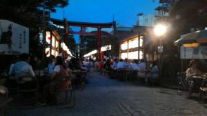 しんまちビアガーデン(善知鳥神社にて)
